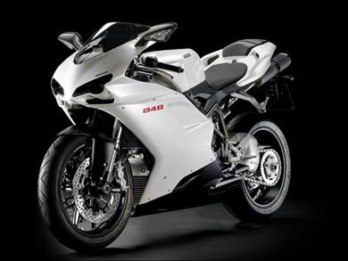 Ducati 848 bianca